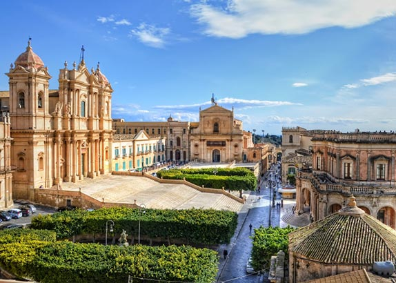 The island of Sicily in Italy