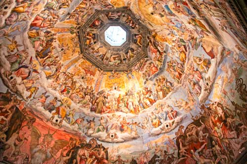 Interior view of Florence's Duomo in Italy
